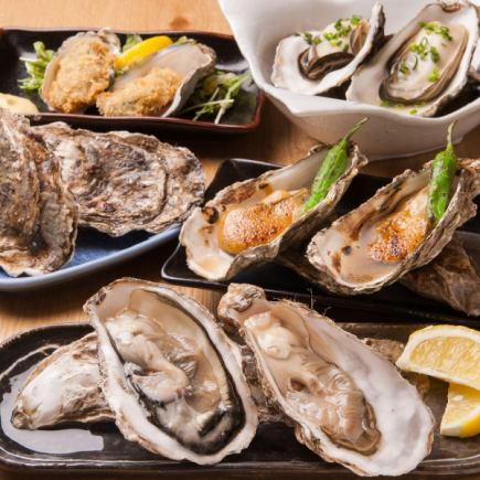 Fresh! Akkesh oysters set 7 items 2980 yen !!