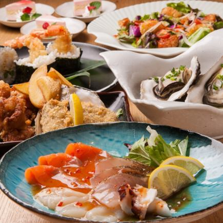 Limited for 4 people or more! 11: 00 ~ 15: 00 with maximum 4 hours of drinks! (LO 14: 30) Luncheon course 7 dishes 3000 yen!
