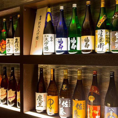 こだわりの地酒、日本酒・焼酎を取り揃えております。