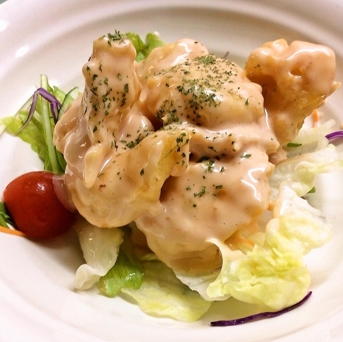 Shrimp mayo / shrimp chili sauce / Stir-fried pork and garlic sprouts