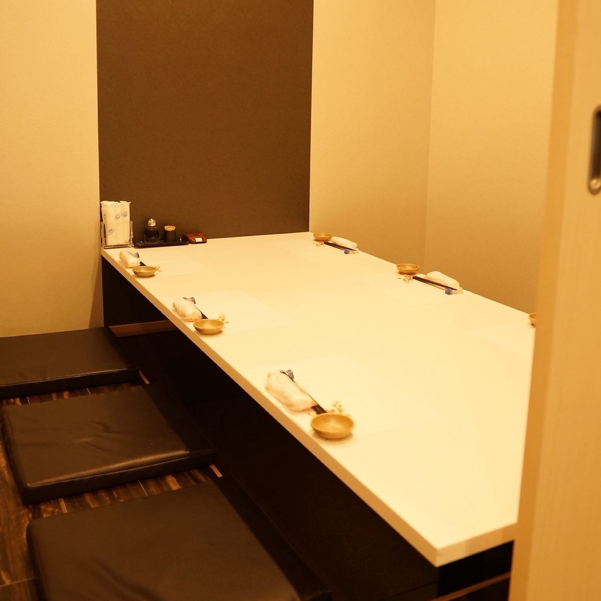 There are many private rooms to relax comfortably! We can eat calmly.