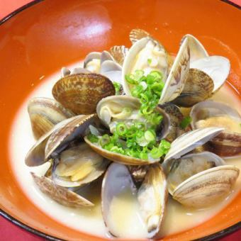 Steamed clam clam / clam and mushrooms with butter