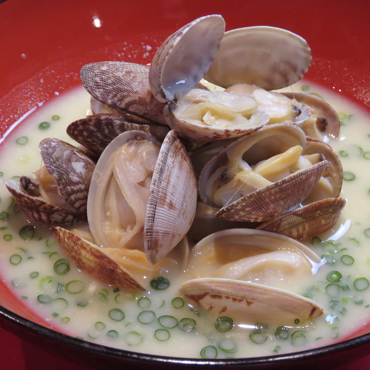 Grilled rice balls / miso soup with clams