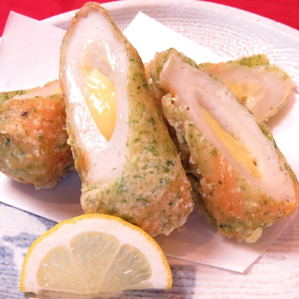 Cheese Chikuwa Isolated Fish