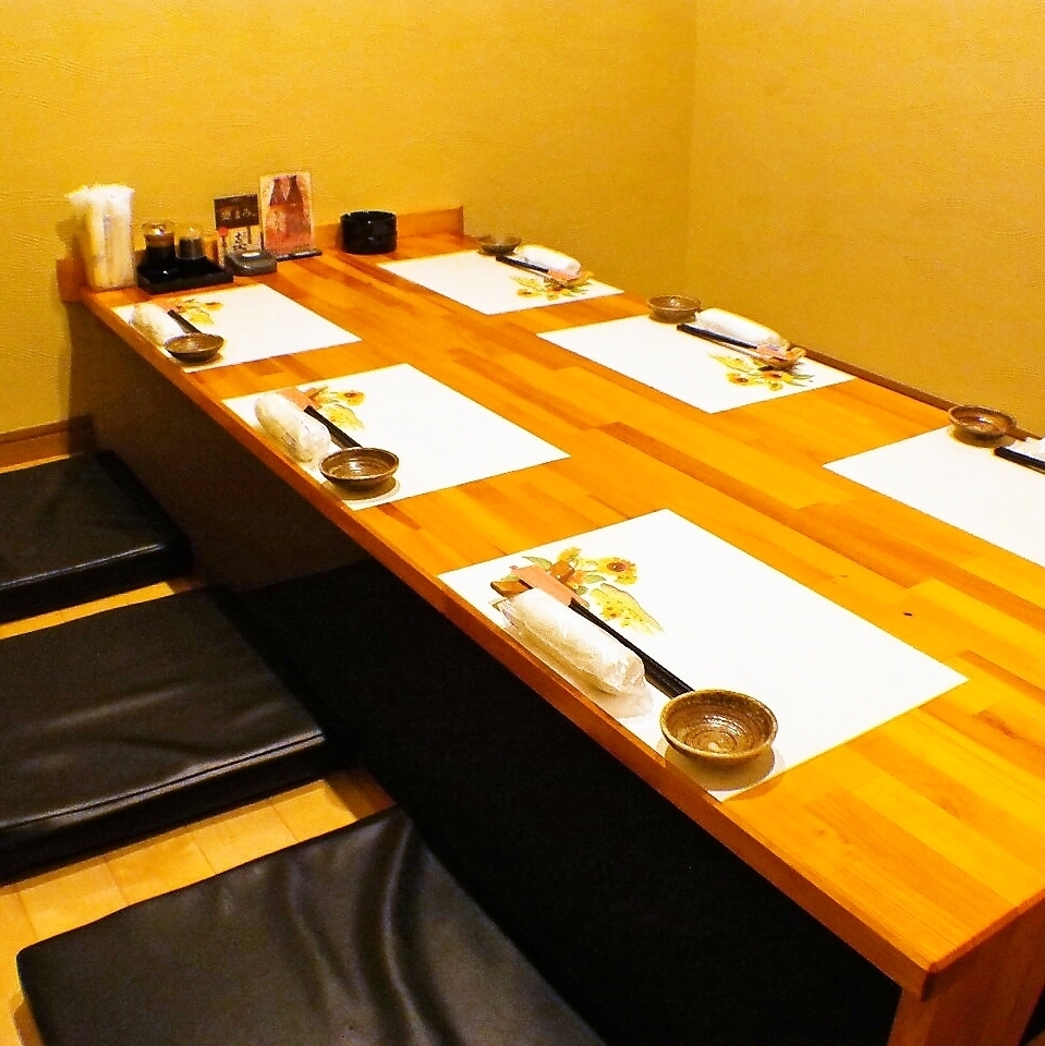 Horigotatsu private room for 6 people.We will inform you the most suitable room according to the number of people.