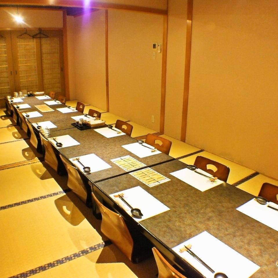 8 인용 다다미 방은 연결해 최대 16 명으로 이용도 가능하다.