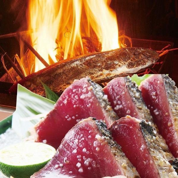 【藁焼き】かつお塩タタキ