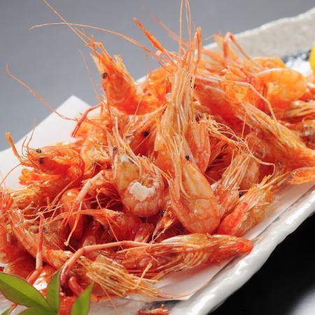 Deep-fried river shrimp