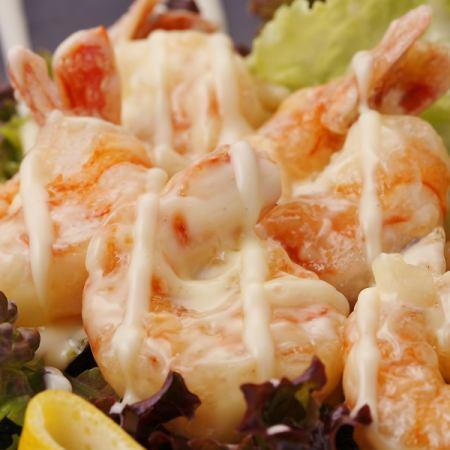 Prawn shrimp with mayonnaise