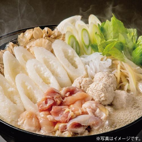"""【This time only limited!】 Akita HIRONE chicken is used !! """"Specialty Kiritanpo Nabe"""" can be enjoyed ♪ 2h drinking and drinking !! 5500 yen"""