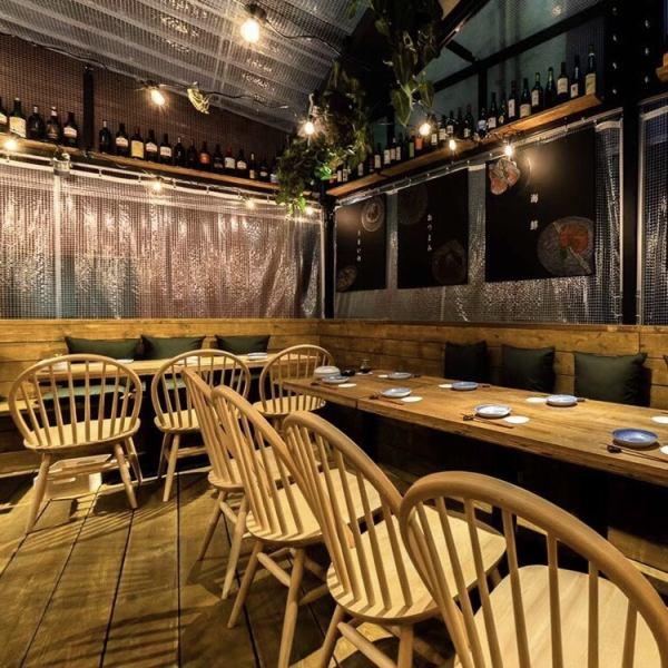 店内の換気や店頭でのアルコールも完備。皆さまに安心してお食事できる空間をご用意いたします。