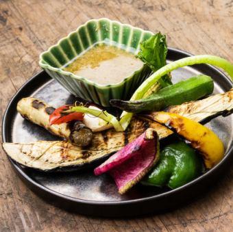 炭焼き野菜バーニャカウダーソース