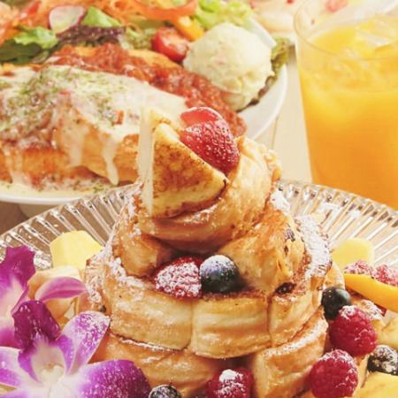【Tower French Toast Birthday Party】 ※ Lunch time reservation is possible