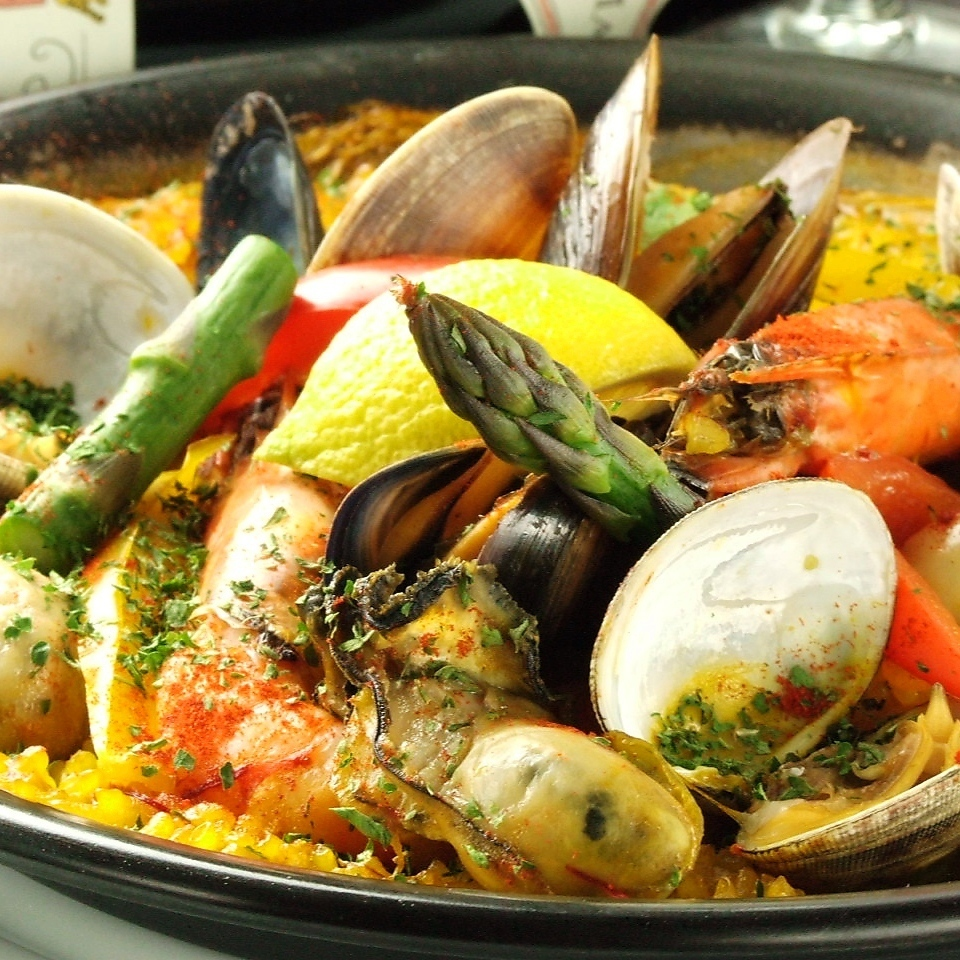 Seafood paella (2 to 3 servings)
