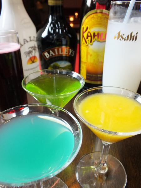 We prepare abundant kinds of cocktails ♪ We are also popular with people who do not like strong liquor from drinkers!