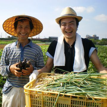 与农夫的面孔的可口菜可看见