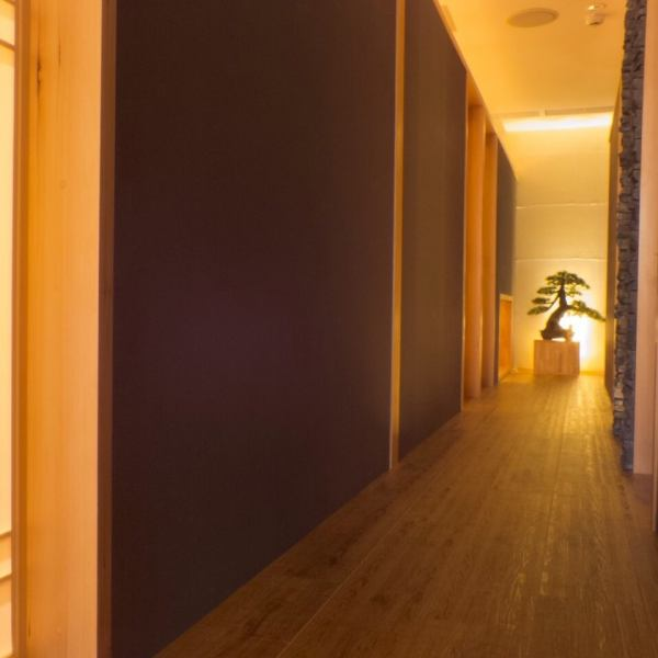 和の趣きのある個室。8名様から個室をご用意。10名様までの旅館風個室
