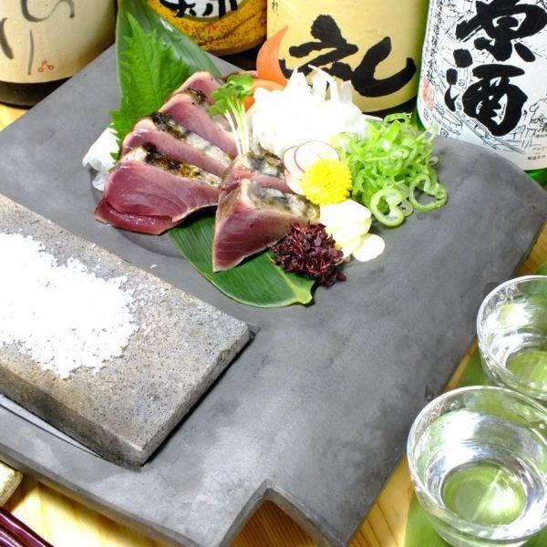 鰹の塩タタキ