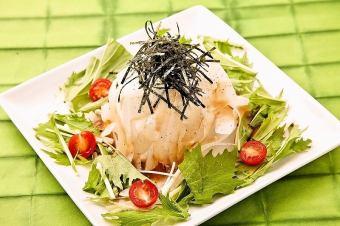 大根と水菜のハリハリ和風サラダ