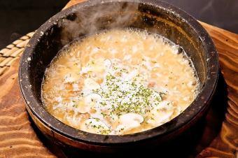 マッシュルームの石焼きチーズリゾット~トリュフの香~