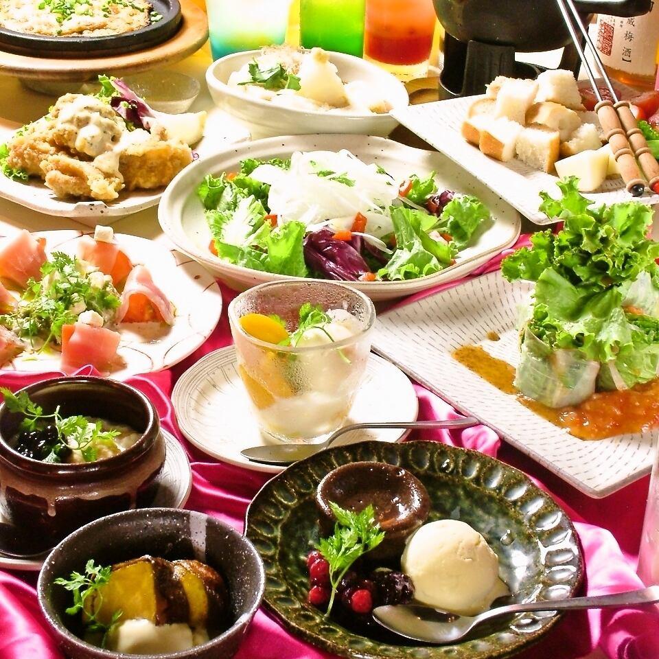無制限飲み放題付!選べる料理&スイーツ♪シンデレラコース2750円