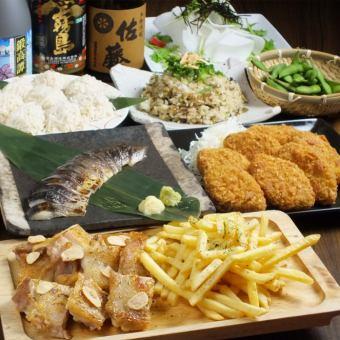 【名物3時間】3時間飲み放題付 若鶏のステーキ おだいどこ定番コース 4300円⇒3500円【全8品】