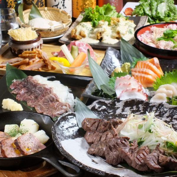 飲み放題付きコースは3000円~ 最大60名様までの掘りごたつあり!!各種ご宴会にご対応させていただきます!!