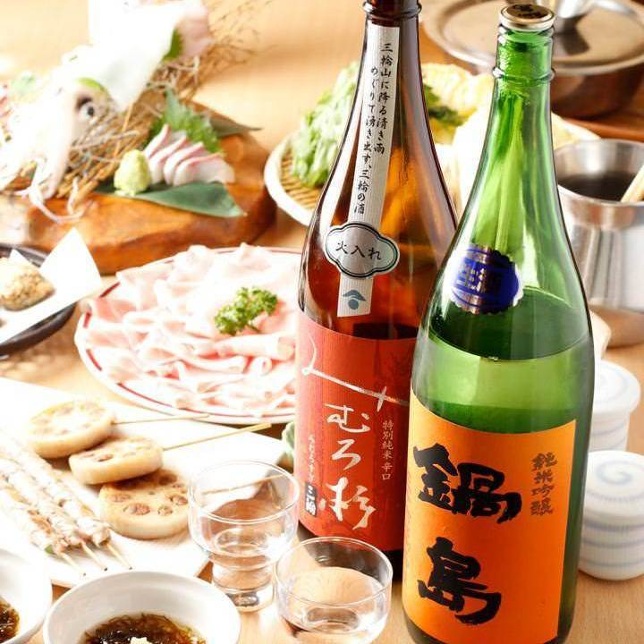 Fulfilling alcohol to suit your dish ♪