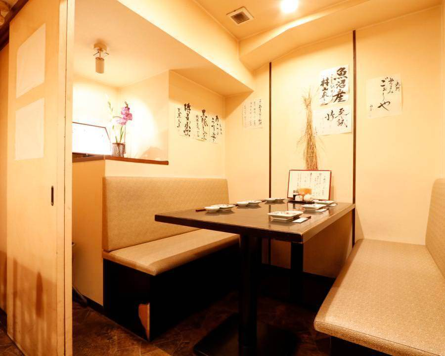 Prepared private room for up to 6 people ◆ It is also ideal for small banquets and entertainment meals.