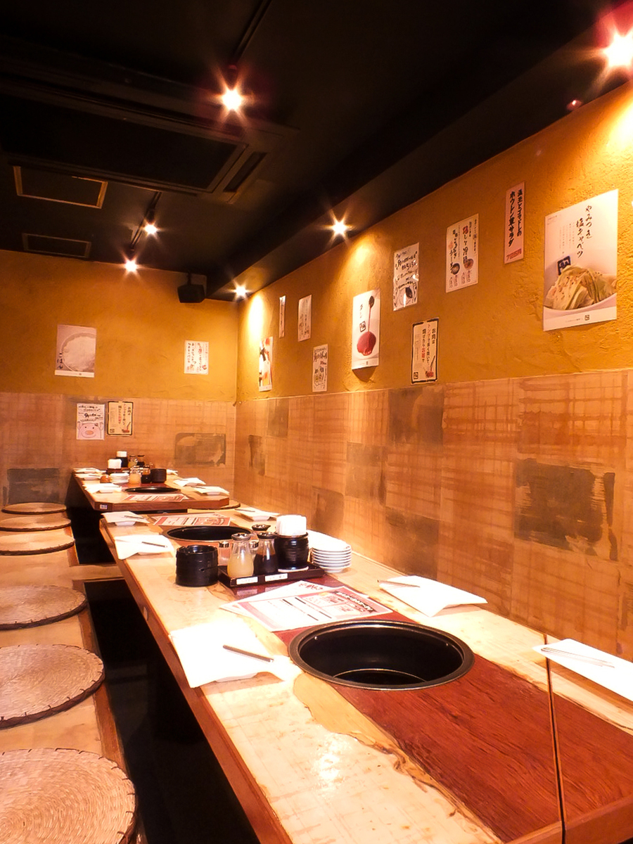 Up to 18 people In addition, the Kaiseki seats are also recommended for company banquets!