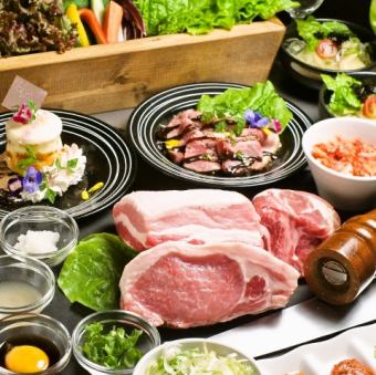 【Ultimate Meat Course】 Recommended for Banquet! Enjoy all 8 products including our ultimate pork dishes boasting ⇒ 3480 yen (excluding tax)