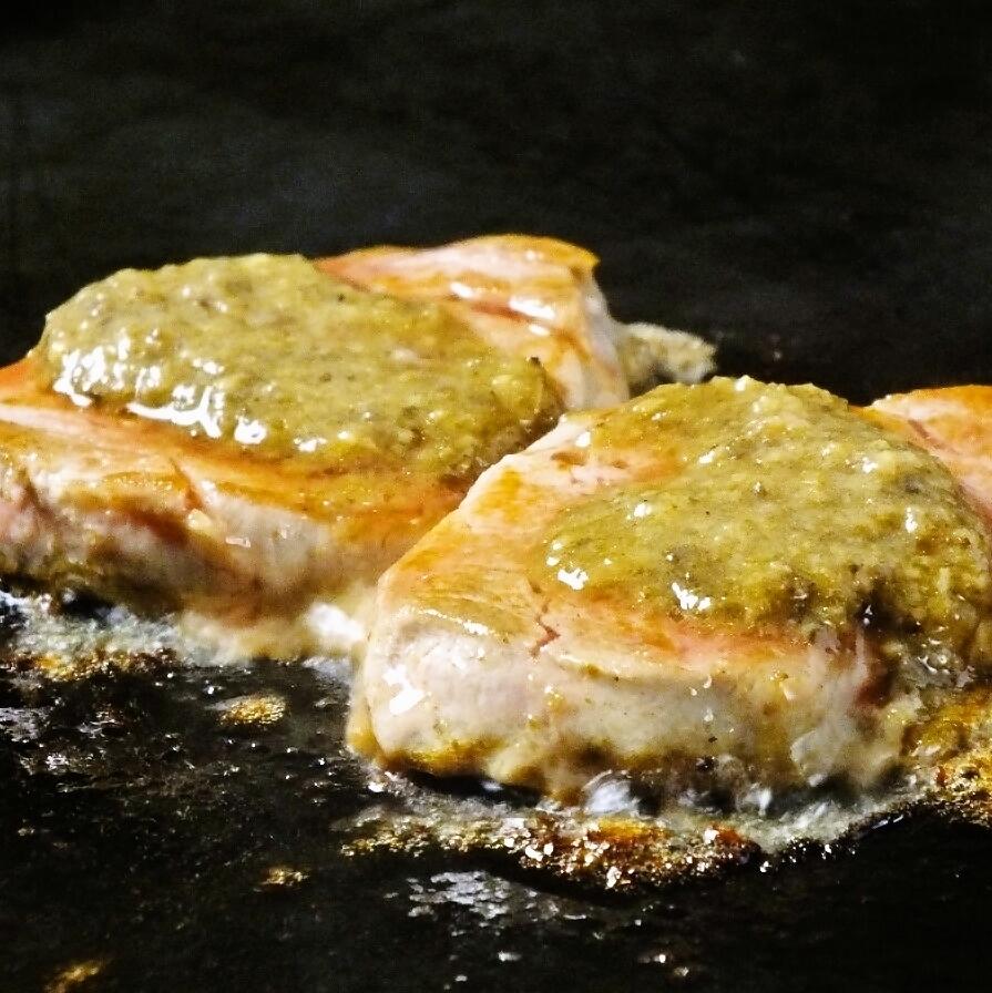 Rare fillet ~ French style champignon sauce ~