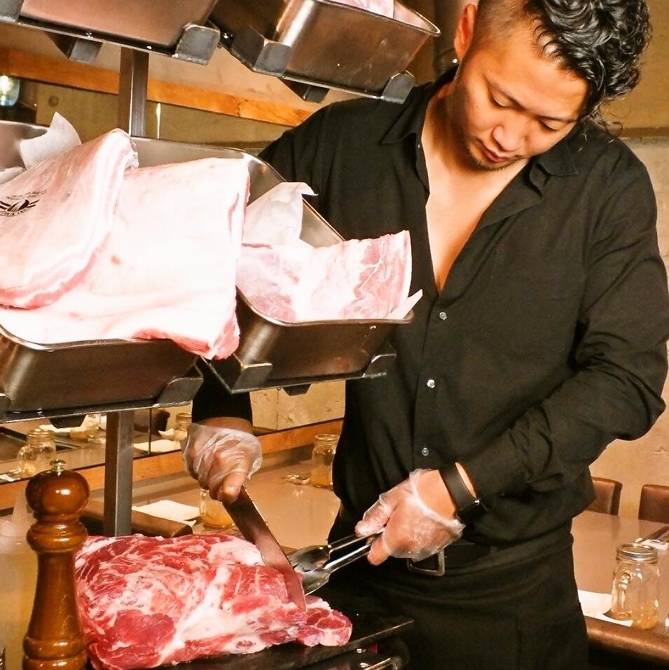 【일본 최초] 미트 디스플레이! 좋아하는 고기를 눈앞에서 ♪