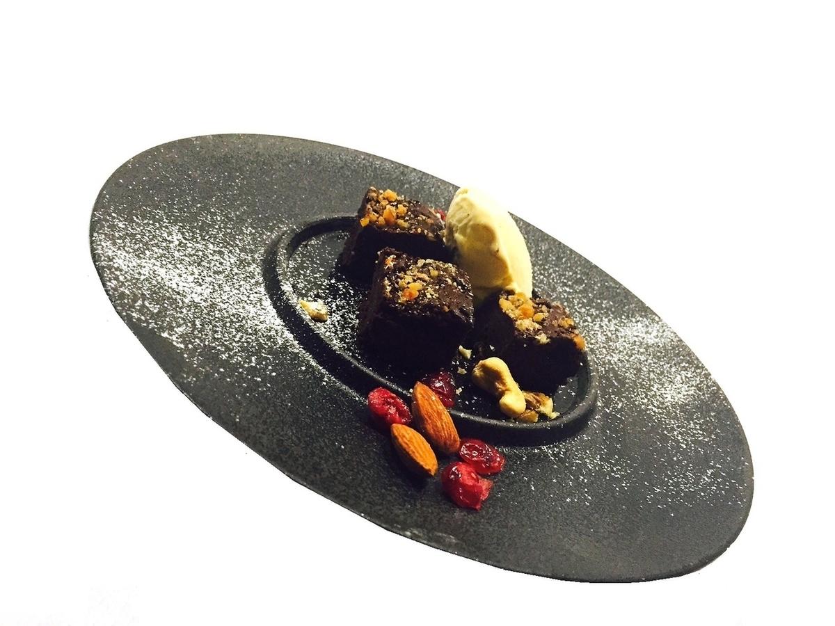 Country rare Ginjo chocolate cake