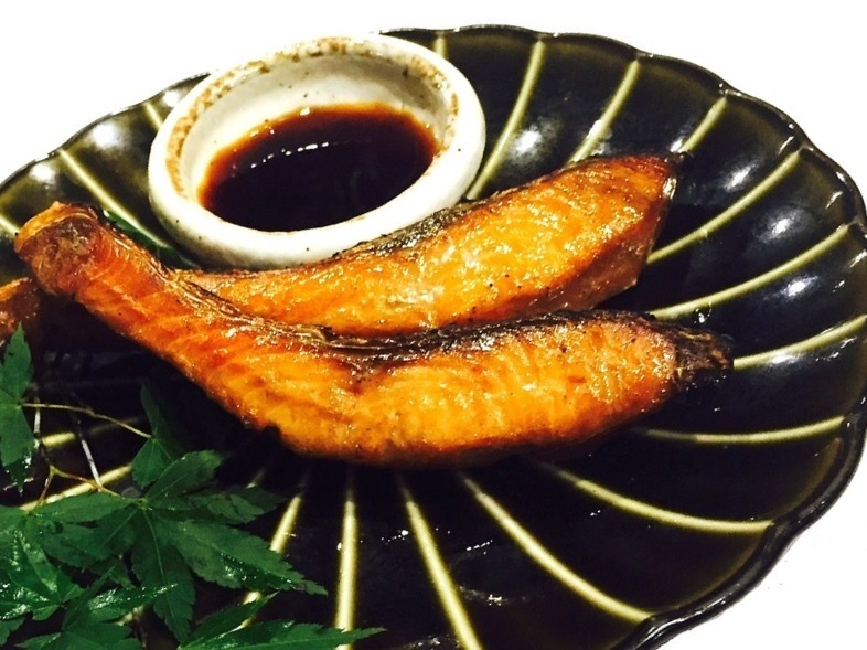 Smoked grilled pickled salmon