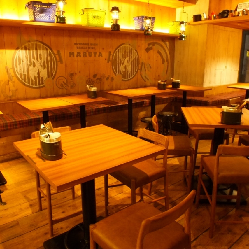 Warm grain warmth and fashionable shop is excellent in opening feeling!