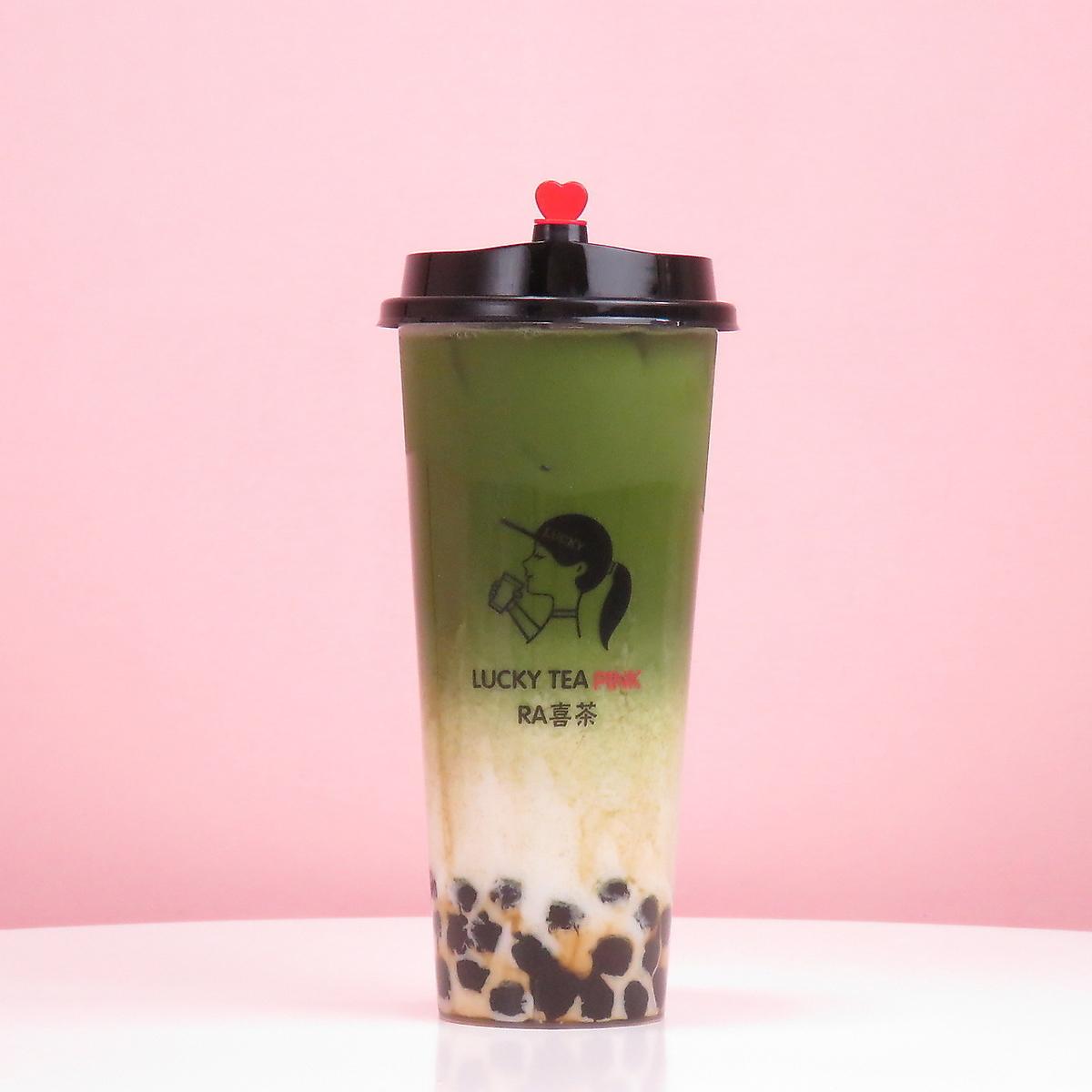 沖縄黒糖宇治抹茶タピオカ