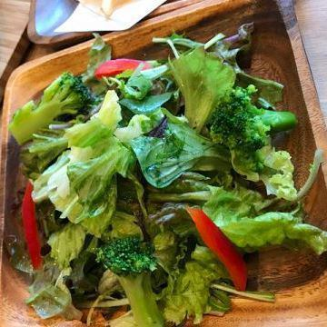 簡單的綠色沙拉