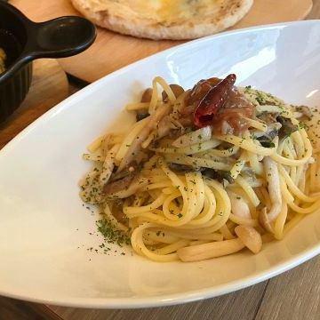 Peperoncino with mushrooms and liquor