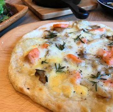 熏鮭魚和迷迭香味菇