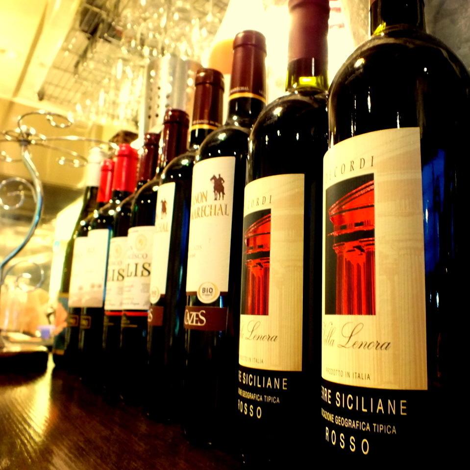 我們也有很多葡萄酒。根據您的菜餚推薦葡萄酒。