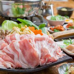 "Pork shabu-shabu course: all-you-can-eat ""Awa pork"", brand pork from Tokushima prefecture, plus 2 hours all-you-can-drink!"