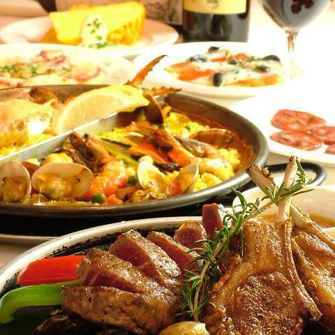 Amapola specialty stone grilled steak party course 8 items + 2 H with all you can drink 6,300 yen (tax included)