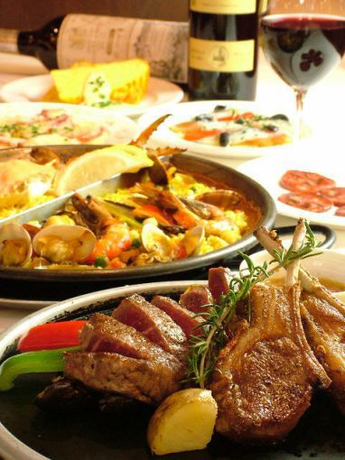 Stone Grilled Steak + Special Bouillabais Party course 9 items + 2 H with all you can drink 7,300 yen (tax included)