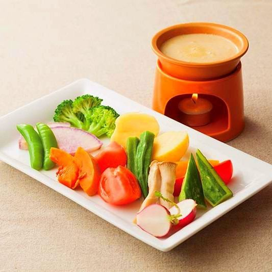 Seasonal vegetables Bagna cauda