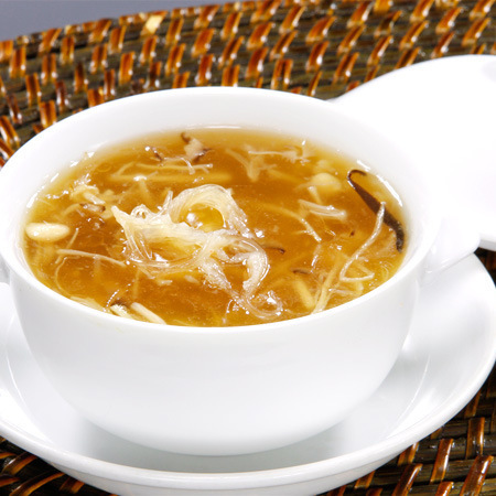 Soup with shark's fin three ingredients
