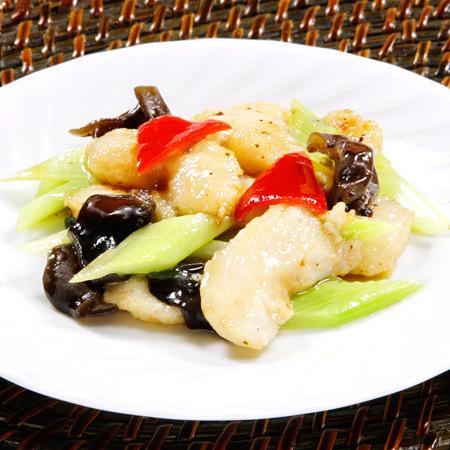 白身魚の黒味噌炒め