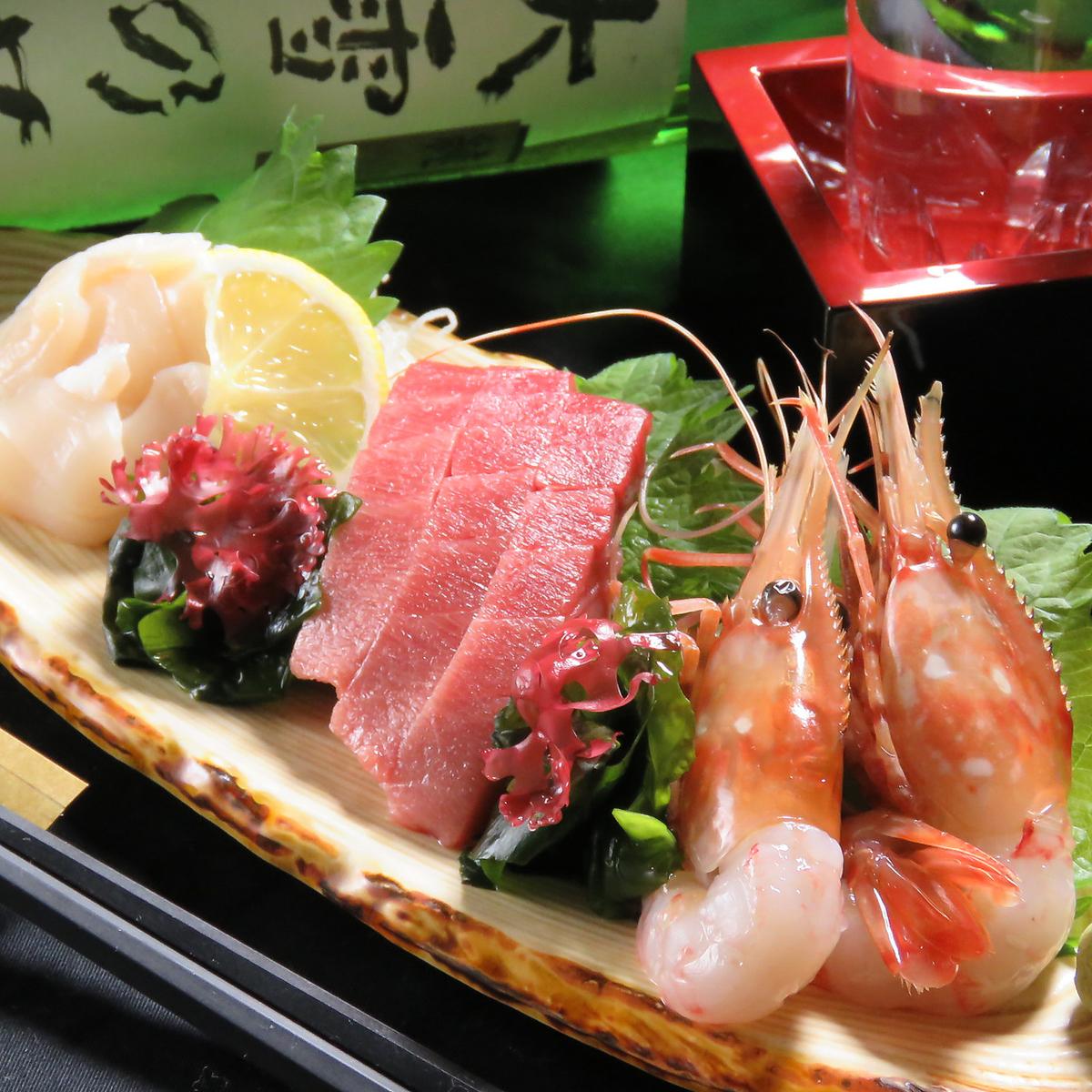 Three sashimi rolls (one serving)