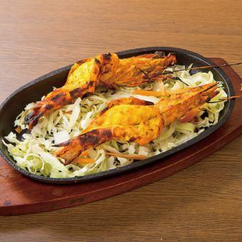 Grilled big shrimps in Thailand / Grill Lamb Chops