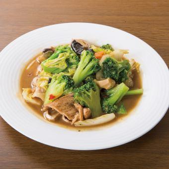 Stir-fried 5th-grilled vegetables with pork